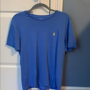 Royal Blue Polo T-Shirt w/ Yellow Polo Sign